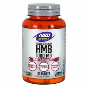 HMB Double Strength 90 Tabs 1000 mg by Now Foods