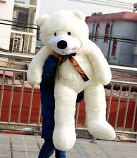 Big White Teddy Bear Plush 47'' Giant Soft Toys Birthday Doll Stuffed Gift 120cm