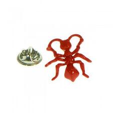 détaillé rouge vif FOURMI métal épinglette Insect FOURMI ferme ajtp528