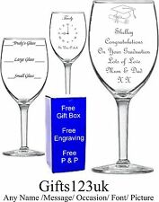 Personalised 11oz Wine Glass,Graduation, Birthday, Wedding Gift
