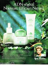 PUBLICITE ADVERTISING 056  1987  Yves Rocher  cosmétiques   adn végétal