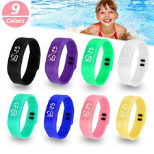 Boys Girls LED Sport Electronic Digital Wristwatch Watch Kids Xmas Birth Gift UK