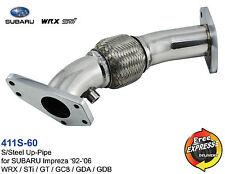 Exhaust UpPipe LinkPipe Up Pipe for SUBARU Impreza 92-06 WRX STi GT GC8 GDA GDB
