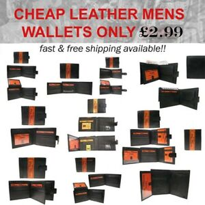 Cheap Mens Wallets 100% Leather Don Milano Brand New Condition (UK SELLER)