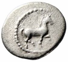 "Thessaly, Pharkadon AR Obol ""Horse Trotting & Athena With Shield""Good Fine"