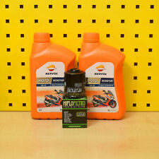 Aprilia Mojito 125 150 Oelwechselset Oil Filter Repsol Scooter 5W-40 Engine