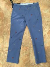 New listing Polo Ralph Lauren 36 x 32 Nwt Nautical Rope Flags Blue Chino Pants Stretch Nwt