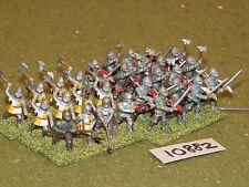 25mm medieval / generic - infantry 28 figs - inf (10882)