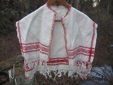 Victorian Turkey Red Linen Shawl