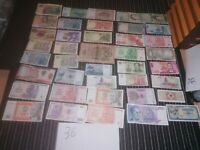 lot banknotes world most unc and sweden vintage notes 50kr 5 kr 10 kr 20seknr 36