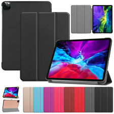 """For iPad Pro 12.9"""" 11"""" 2018 2020 PU Leather Silm Magnetic Stand Flip Case Cover"""