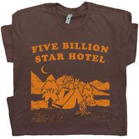 Camping Owl T Shirt 5 Billion Star Hotel Hiking Woodsy Yellowstone Grand Canyon