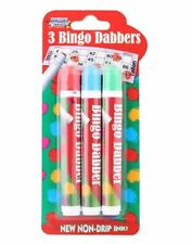 3PC Bingo Dabbers Marker Pens Classic Non Drip Ink Dotters Pens Tombola Games
