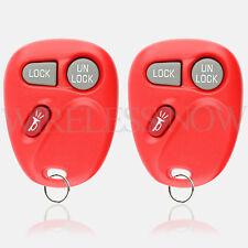 2 Car Key Fob Keyless Entry Remote Red For 1998 1999 2000 2001 Chevrolet Blazer