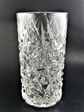 """SET OF 4 TIFFANY STYLE WATER TUMBLER CLASS 6"""" TALL USA (B11) 2 SETS AVAILABLE"""