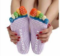 Donne Calzini Con Dita Calze A Caviglia Elastica Per Yoga Pilates, Antiscivolo
