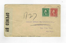 US Postal Agency Shanghai China used censor cover to USA