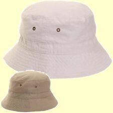 100% Ripstop Cotton Bucket Hat Bush Hat White Travel Sun Hat Lightweight 56g