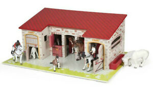 Papo 60102 The Stable toy MDF horse stables pony horse building barn equestrian