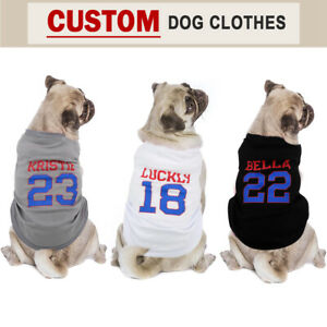 Personalised Dog T-shirt Pet Harness Soft Summer Vest Custom Name ID Chihuahua