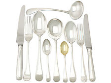 Antique Sterling Silver Canteen of Cutlery for Six Persons, George V - 55 pieces