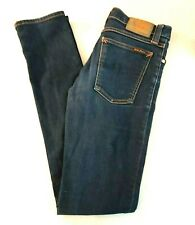 Nudie 27 x 34 'Tube Kelly Rinsed Strikey'  N441 Stretch Blue Jeans Italy Made
