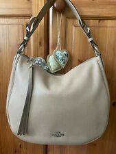 Brand NewCoach Sutton Hobo Leather Shoulder Crossbody Taupe