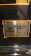 Hand Signed framed mile jedinak shirt photo captains armband socceroos australia