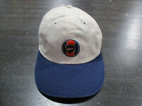VINTAGE Nike Hat Cap White Blue Swoosh Snap Back Adjustable Kids Boys 90s *