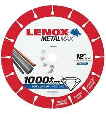 "NEW LENOX 1972927 12"" x 1"" METALMAX GRINDER METAL CUTTING CUT-OFF WHEEL SALE"