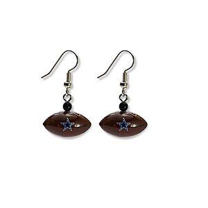 Dallas Cowboys Football Style Dangle Earrings