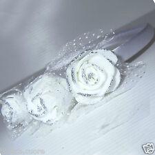 Frontino bianco Acconciatura Comunione e Sposa capelli forcine coroncina D0372