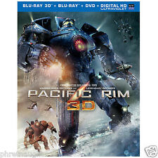 PACIFIC RIM 3D / BLU-RAY / DVD - CHARLIE HUNHAM - AUTHENTIC US RELEASE