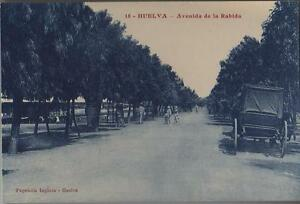 Tarjeta Postal. Huelva. Nº 18. Avenida de la Rabida. Animada.