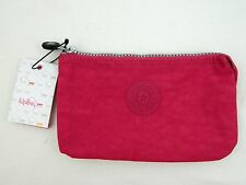 NEW KIPLING Pink Blooming Rose Creativity Pouch 3 Slot Wallet Clutch Case AC7518