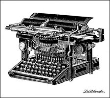 """La Blanche LB1311   """"Typewriter""""   1Silicone Stamp Size 3.5"""" x 3"""" NEW"""