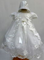 BABY INFANT GIRL CHRISTENING BAPTISM Dress Gown Size: 0 1 2 3 4 (0-30 Months)
