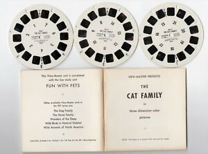 The CAT Family 1957 Unreleased RARE View-Master Packet With Reels 880-ABC