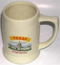 BEER DRINKING GLASS MUG CERAMIC TEXAS LONE STAR STATE
