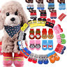 4Pcs Dog Socks Non-Slip Grip Slip Anti-Skid S M L Puppy Cat Pet Shoes Slippers