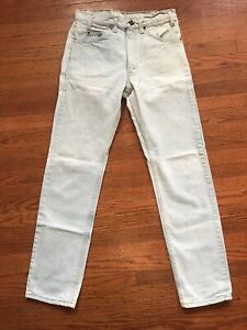 levis 505 orange tab 32 X 34 Vintage Light Wash 80s USA Made