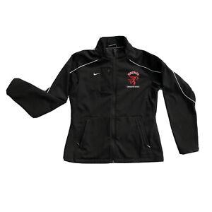 VTG RARE NIKE Fireball Whiskey SZ M Womens Jacket Black Zip Up Collectible Logo