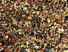 1 1/2 lb lot of Colorful Mixed Plastic Buttons Nice Variety Colors Sizes Crafts
