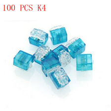 100pcs K4 Wire Connector Network Cable Terminal Block 4 Telephone Telecom Cable