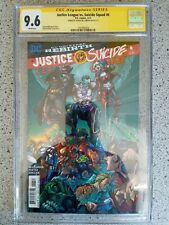 JUSTICE LEAGUE VS SUICIDE SQUAD #6 REGULAR COVER CGC SS 9.6 SIGNED 1ST PRINT HTF