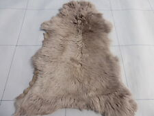 sheepskin leather hide skin Mocha Brown Toscana long hair w/Python print back