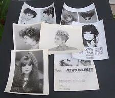 Vtg 1980s Hairstyle Big Hair 8x10 lot of 12 promo glossy photos Sassoon Zotos