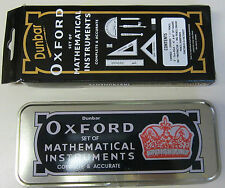 The HELIX OXFORD Set of Mathematical Instruments NEW in Metal Tin