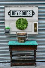 Reclaimed cabinet Custom indoor basketball hoop 30by24 with dry goods sign