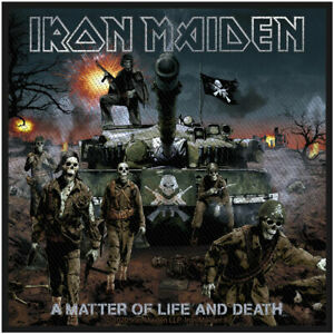 """IRON MAIDEN - """"A MATTER OF LIFE AND DEATH"""" (PICTURE) - WOVEN SEW ON PACKED PATCH"""